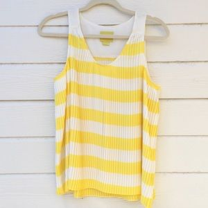 Anthropologie Maeve | micro pleated tank top 8